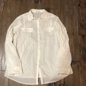 Women's sheer Gap button down